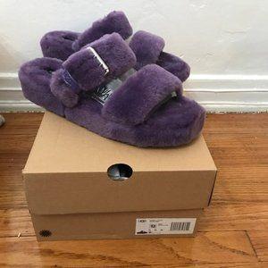 Ugg purple fuzz yeah slides